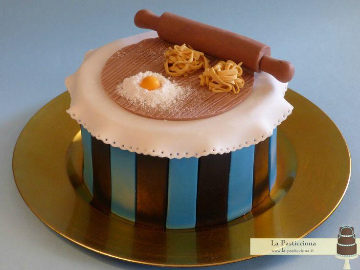 Due passioni in una sola torta: l'inter e la pasta fatta in casa! - www.la-pasticciona.it