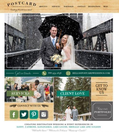 Postcard Weddings | Wedding Planner Prophoto website design