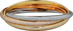 Trinity de Cartier bracelet White gold, yellow gold, pink gold, diamonds