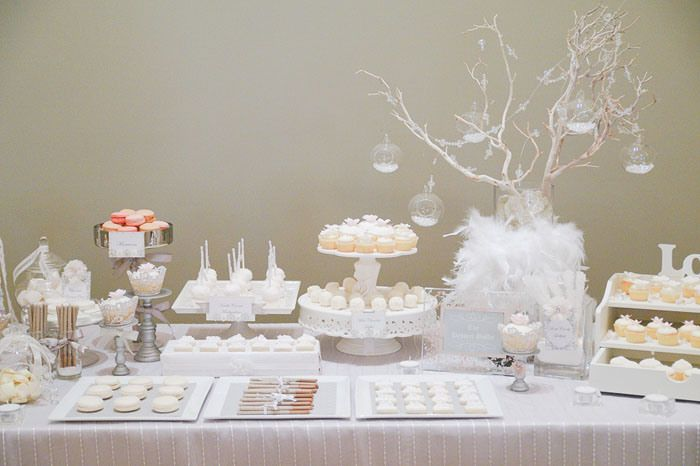 White Wedding Guest Dessert Feature | Amy Atlas Events