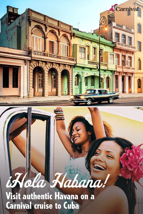 Want to finally see where the cha-cha-cha was born? We do too. Carnival Cruise line is now offering cruises to Cuba. Plan your adventure today at Carnival.com