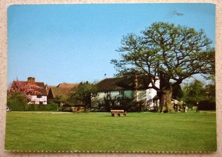 Postcard showing Leigh Village Green near Tonbridge in Kent (W I Camera Club)
