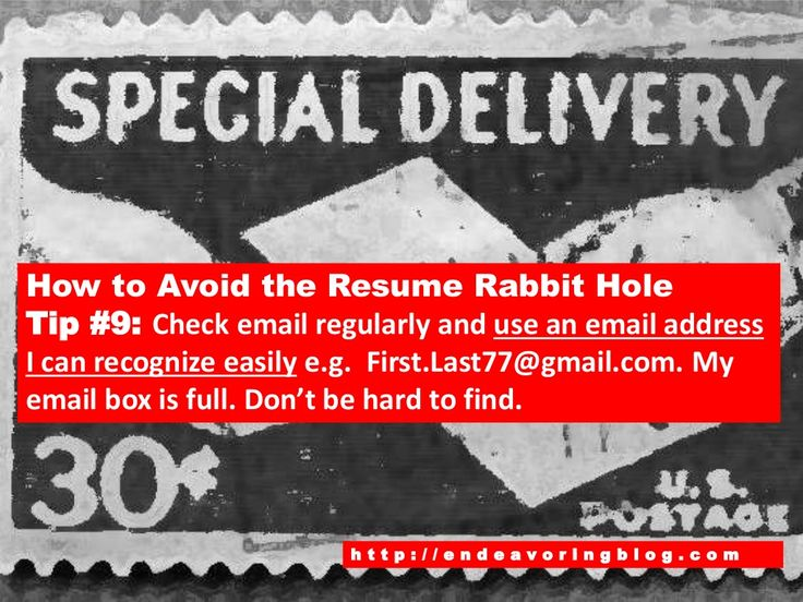 How to Avoid the Resume Rabbit Hole Top 10 Tips Endeavoring