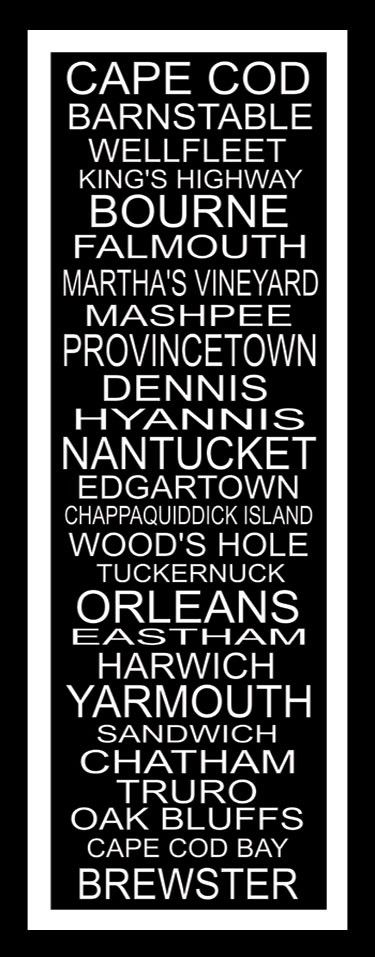 I like!  Subway Art Sign Cape Cod Destination Typography Print by PaperBleu, $41.00