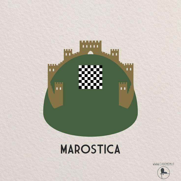 Marostica - Italy. Illustration by Elena Scquizzato