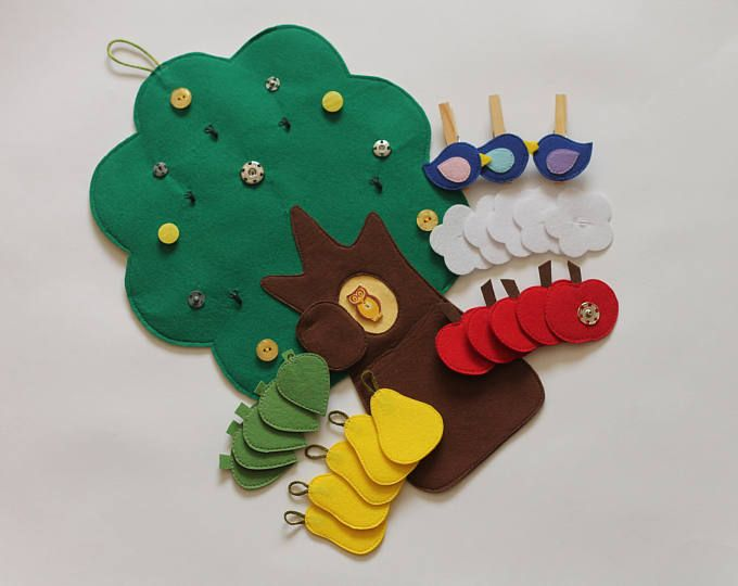 Tree of Four Seasons. Montessori toy. The Tree toy. Quiet toy. Busy play mat.