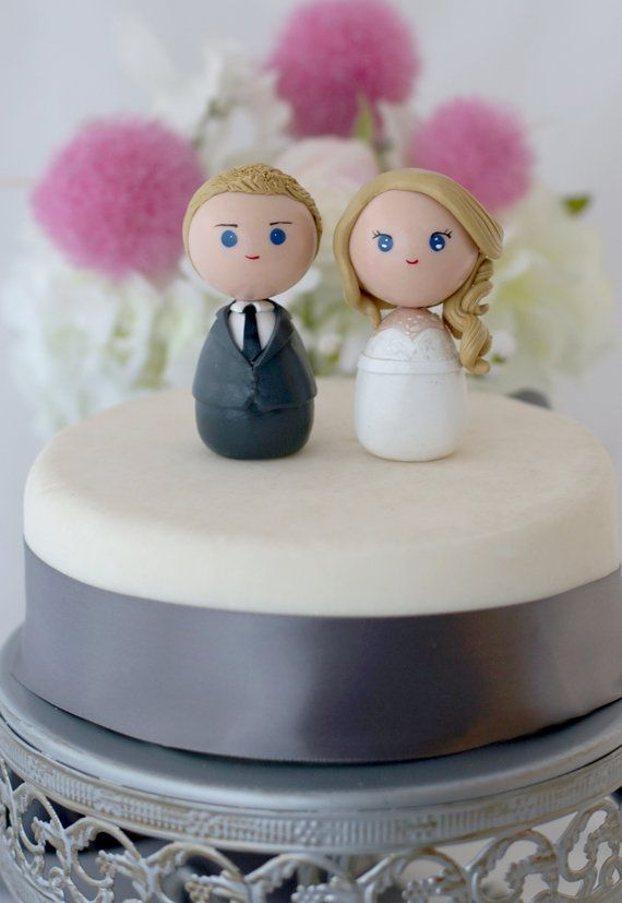 Personalisierte individuelle Hochzeitstorte Topper von Chikipita