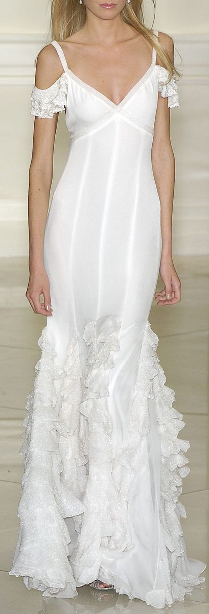 Ralph Lauren ~ White Off the Shoulder Maxi, 2014