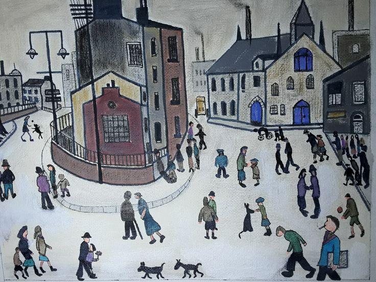 Another Lowry. Street scene.