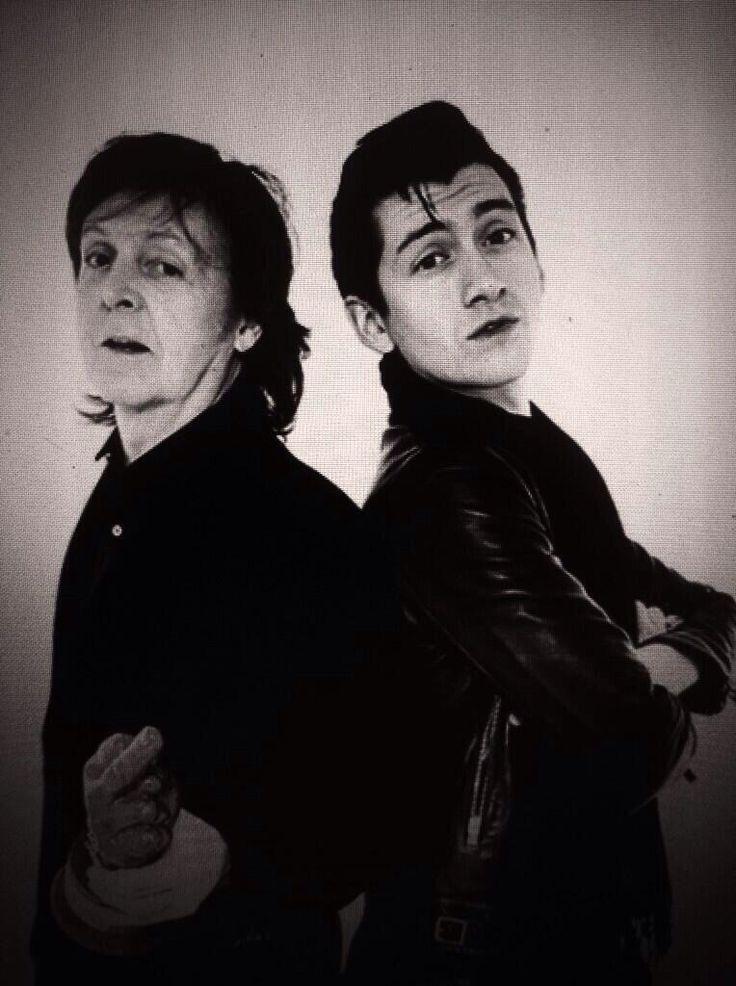 Paul McCartney & Alex Turner.