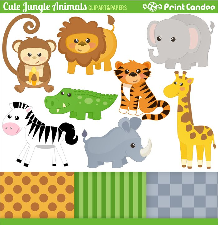 This is an image of Priceless Free Printable Jungle Animals
