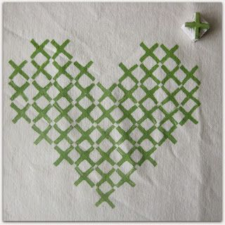 Fabric Printing with Eraser Stamps