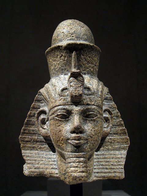 Head of A Statue of King Amenhotep III - Neues Museum by byrnzie28, via Flickr