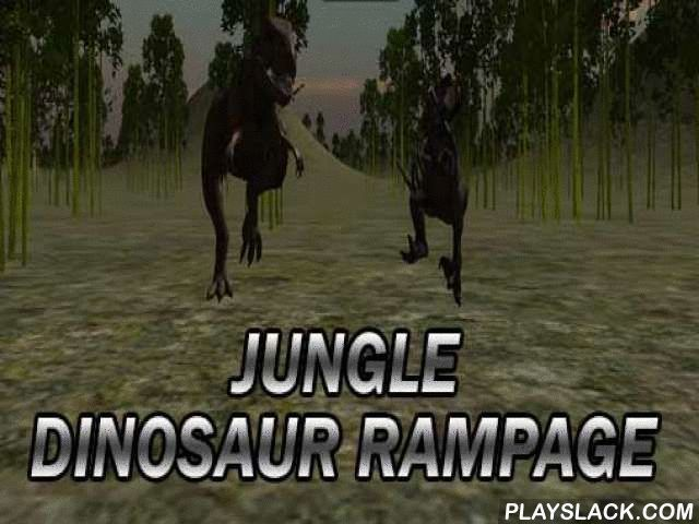 Jungle Dinosaur Rampage  Android Game - playslack.com , Pre-Raphaelite diverse archosaurs that live in jungle on an equatorial islet. In this Android game you go to a bizarre islet, covered with thick jungle, where archosaurs roam. Keep them away from you otherwise you run the hazard of being eaten by past attackers like birds, theropods and many others. If you emotion beasts and don't want to kill them don't worry as your firearm is filled  with tranquilizers.