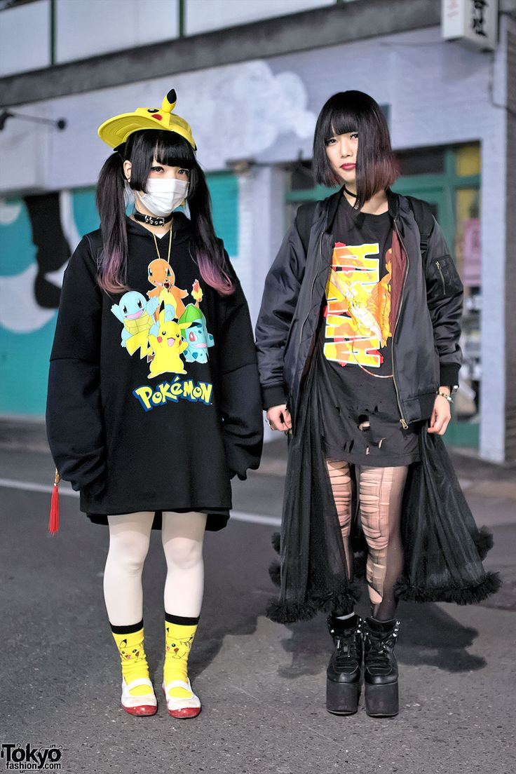 Harajuku Girls in Pikachu, Akira, Spinns, Jeremy Scott & YRU Fashion