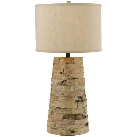 I pinned this bark table lamp from the af lighting event at joss and main
