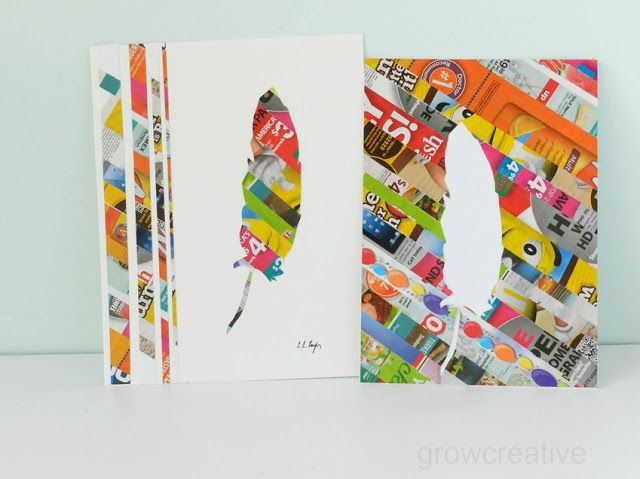 Grow Creative: Junk Mail Art Tutorial