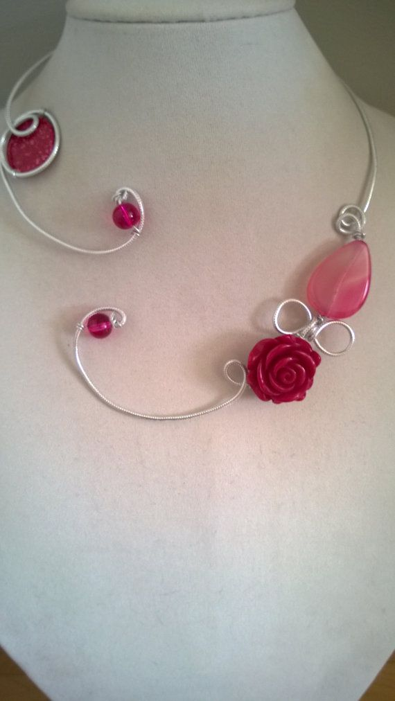 Raspberry necklace Raspberry jewelry by LesBijouxLibellule on Etsy
