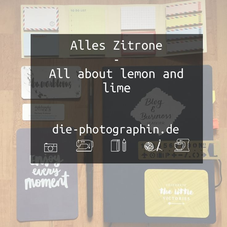 Pinterest Board Cover - Alles Zitrone | All about lemon and lime