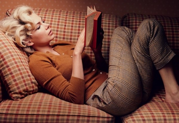 Michelle Williams as Marilyn Monroe. Photography by Annie Leibovitz