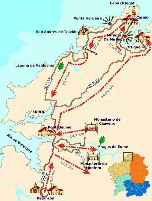 Ruta de Betanzos a Ortigueira