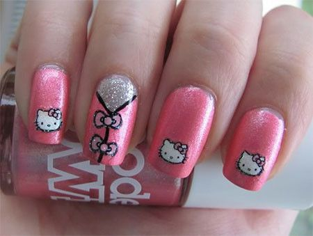 The 25 best kitty nails ideas on pinterest cat nail art cat hello kitty nail art designs for teenage girls for details pictures and kitty nail art prinsesfo Gallery