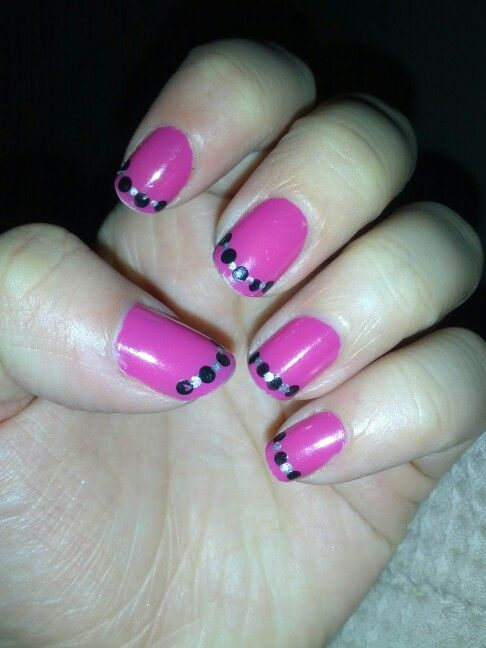 Pink with dotted tips