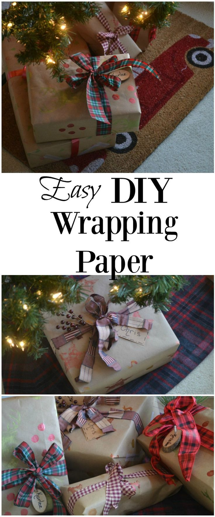 DIY custom wrapping paper with this easy tutorial.  #ad
