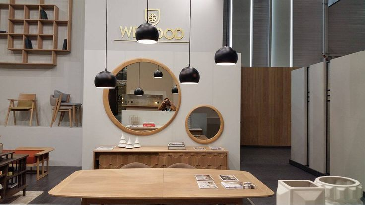 #Luna mirrors for a lovely diningroom by Wewood at #Maison&Object2016