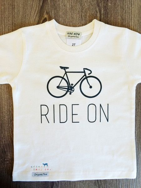 Ride On Bicycle, Bike, Fixie, Cyclist, Toddler, Boy, Girl, Unisex, Toddler, Organic, Fair Trade, T-Shirt, Tee, Top, Tshirt, Shirt