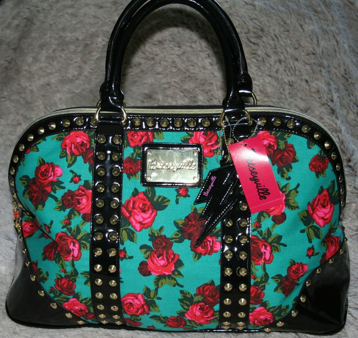 Betsey Johnson BETSEYVILLE Twinkle Toes Studded Satchel Overnight Bag