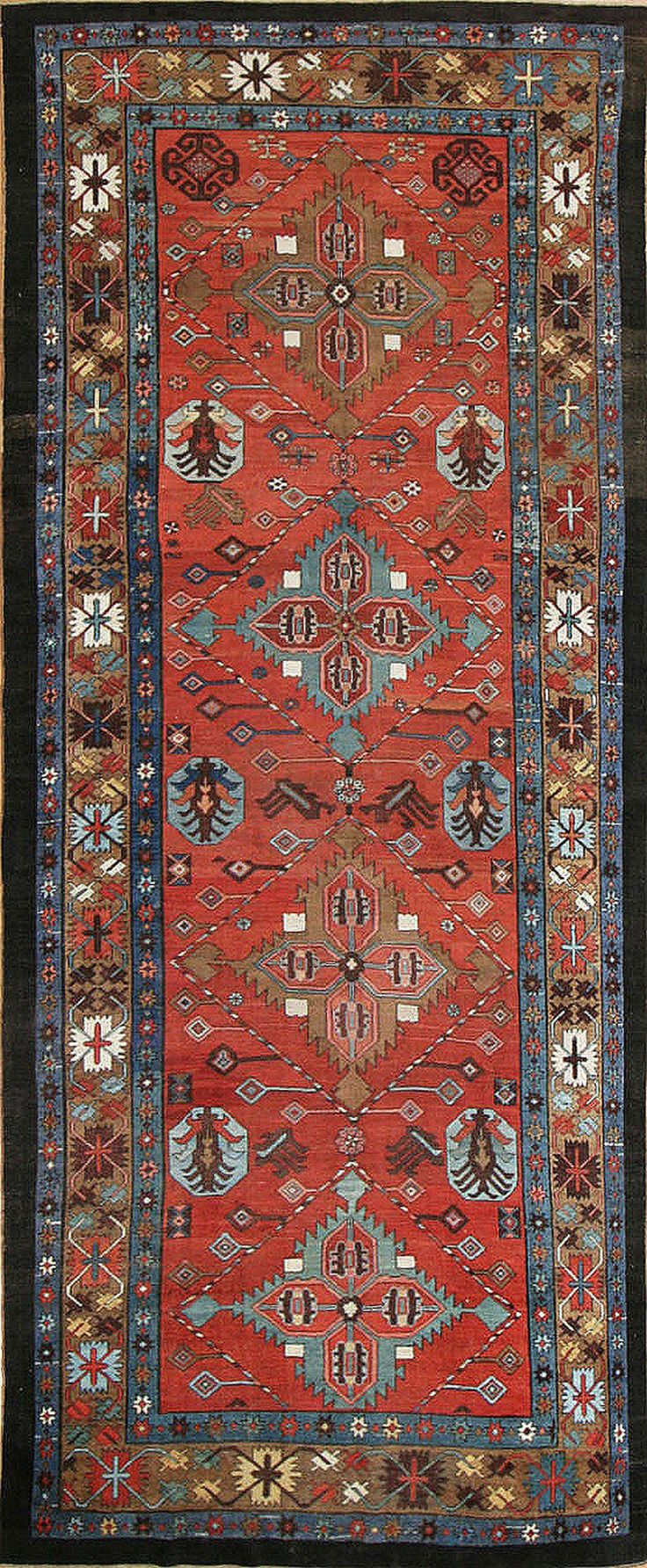 Antique Bakshaish rug, Persia, late 19th century