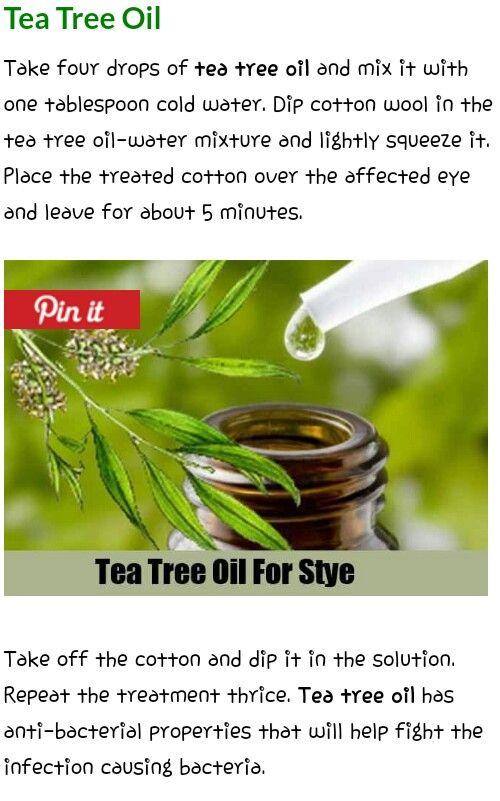 Tea tree oil stye treatment