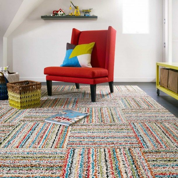 Retro Candy Type Stripes In A Hy Gy Texture Make For The Perfect Playroom