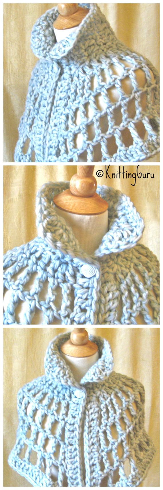 Sky Blue Chunky Crochet Capelet is in this Etsy treasury: https://www.etsy.com/treasury/MTExMjgyOTB8MjcyNTc5ODc3Mg/think-spring-with-freesia-and-placid