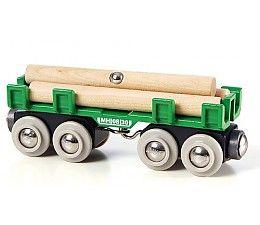 Brio houttransport wagon  Opstapelen, vastzetten en wegrijden. Wanneer het hout correct op de wagon geladen is, kan de reis beginnen! Met zijn 8 wielen ligt de wagon stabiel op het spoor, waardoor de lading veilig ligt. http://www.brio-trein.nl/brio-treinen-houttransport-wagon.html