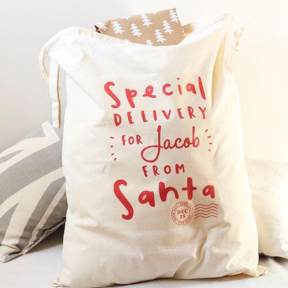 Santa Sack Personalised Santa Gift Sack by OldEnglishCo on Etsy