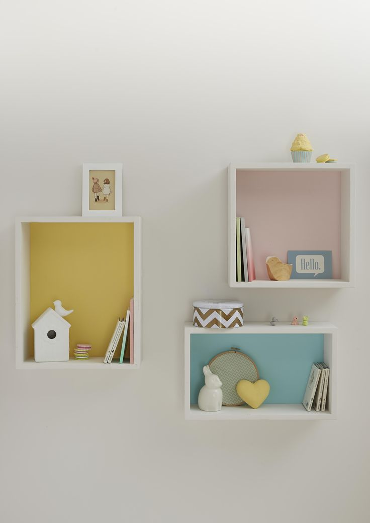 To keep each colour confined, create box shelves and paint the back of each. Giving you the perfect backdrop to display your favourite accessories and pictures. What would you put on your shelves? For more inspiration, check out our other Pinterest boards or view our full range on diy.com/colours