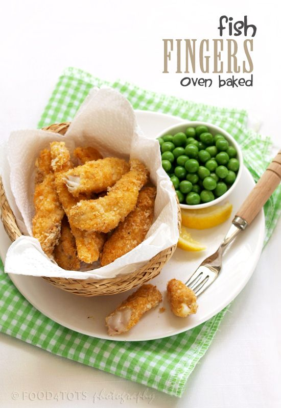Oven baked fish fingers - a great treat for everyone!