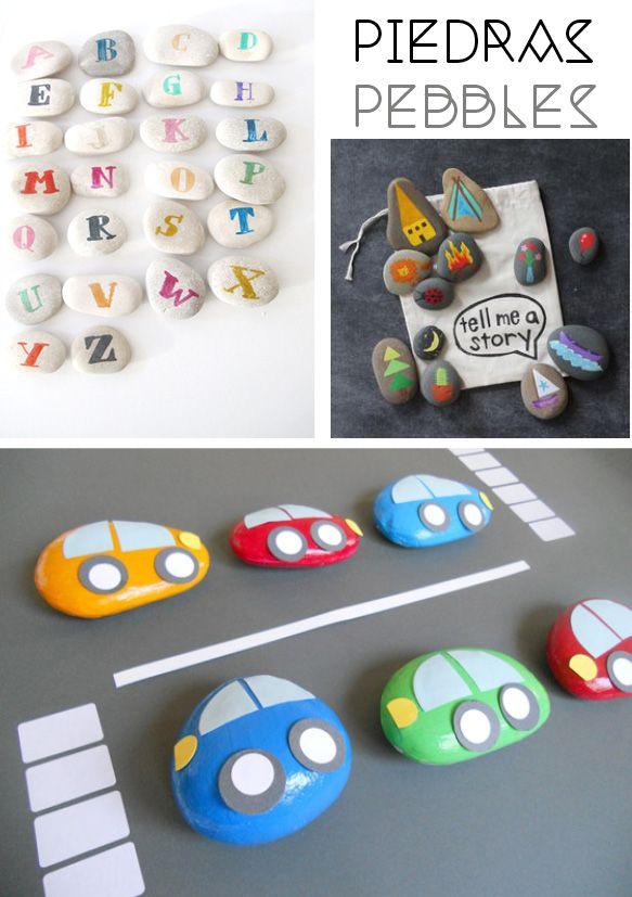 DIY-juguetes de piedras
