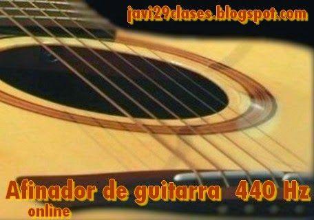 Clases simples de Guitarra y Piano: Afinador online http://javi29clases.blogspot.com.ar/