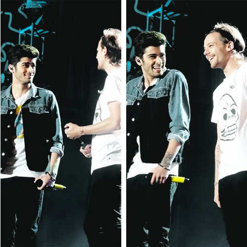 Zouis OMGOSH zayyyynnn he's soooo adorable in the second pic!!!