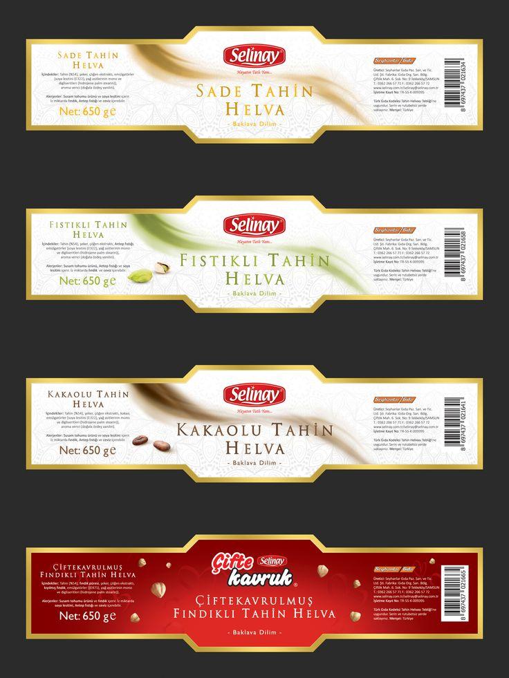Selinay Helva için hazırladığım 650 g helva etiketleri. I made these labels for Selinay Helva's 650 g halva products. #helva #etiket #label #halva #halwa #creative #design