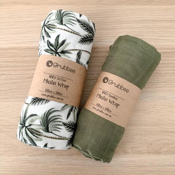 Palm Tree Muslin Wrap Baby Blanket Trees Baby Blanket Etsy In 2020 Baby Muslin Wrap Trees Baby Blanket Muslin Wraps