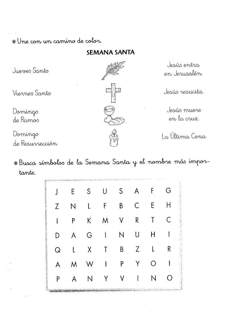 ReliArtes: Fichas y manualidades Semana Santa 2015