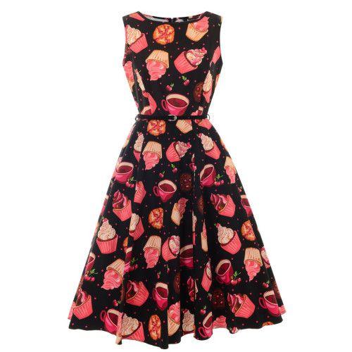 Prachtige cupcake jurk met wijdvallende rok gedeelte. Super pasvorm.