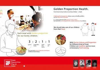 「黃金比例餐盤」依據每餐各類食物的攝取數量和比例,將餐盤分隔出「食物黃金比例」的盛裝空間。(北科大提供)