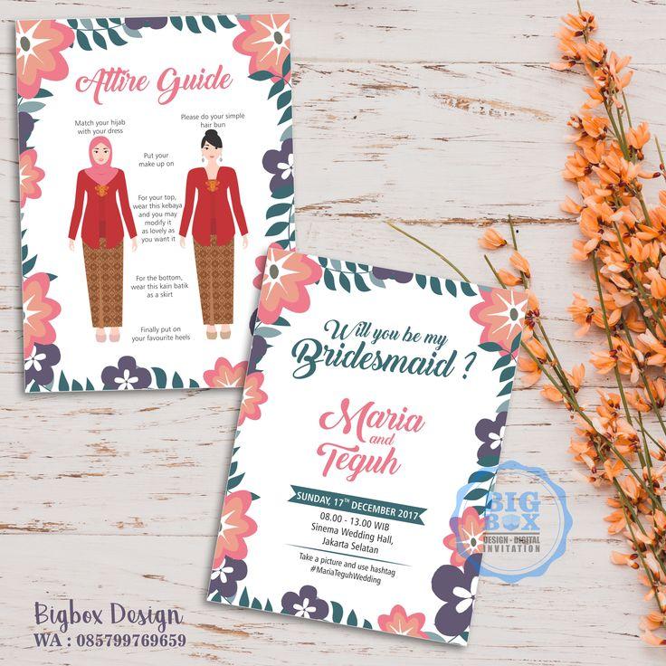 Bridesmaid card for Maria & Teguh wedding. (2 sisi) Thank you. . . . Whatsapp/Line 085799769659 . . . #bridesmaid #groomsman #bridesmaidcard#bridesmaidcardsemarang #groomsmancard #kartubridesmaid #kartugroomsman #attireguide #attireguidecard #undanganunik #undangan #undangansosmed #digitalinvitation #bigboxdesign #undanganelektronik #undanganpernikahan #weddinginvitation