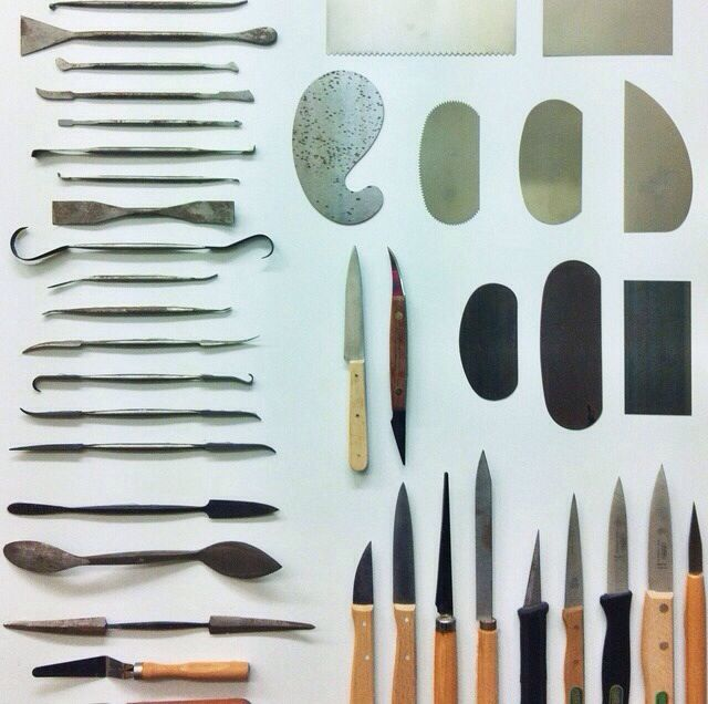eleonorbostrom: love to look at all the ceramic tools while buying my porcelain in the supply store!