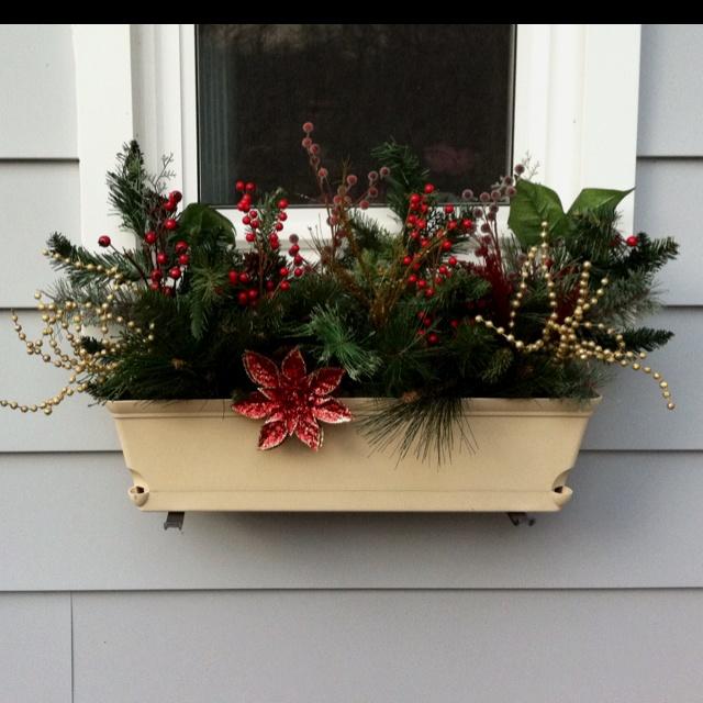 25 beste idee n over kerst bloembakken op pinterest buiten tuinieren kerst kerst manden en - Outdoor tuinieren ...